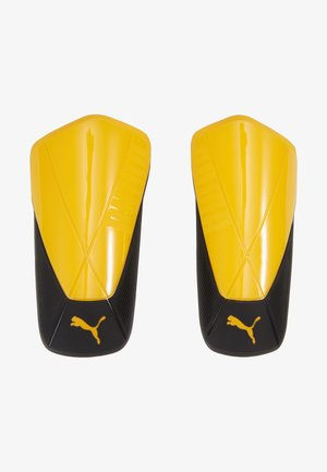 Shin pads - ultra yellow/black