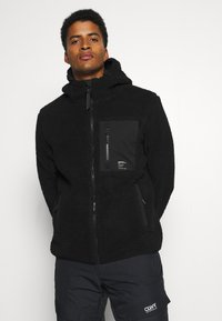 Superdry - ALPINE MID LAYER - Fleecejacka - black - 0