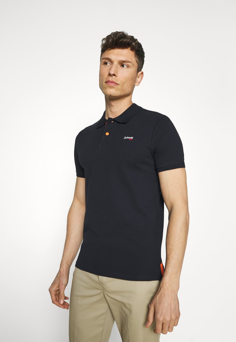 Schott - PSMILTON - Polo shirt - navy/orange