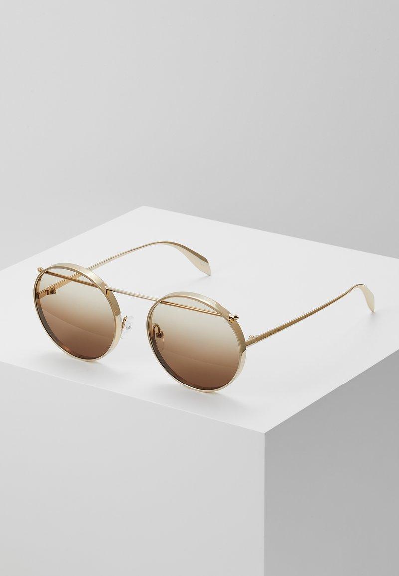 Alexander McQueen - SUNGLASS UNISEX - Occhiali da sole - gold-coloured/brown