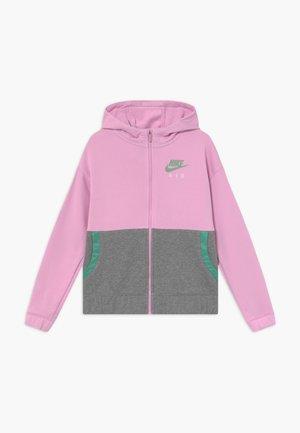HOODIE - Mikina na zip - arctic pink/healing jade