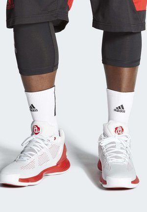 D ROSE 10 SHOES - Koripallokengät - grey/red/white
