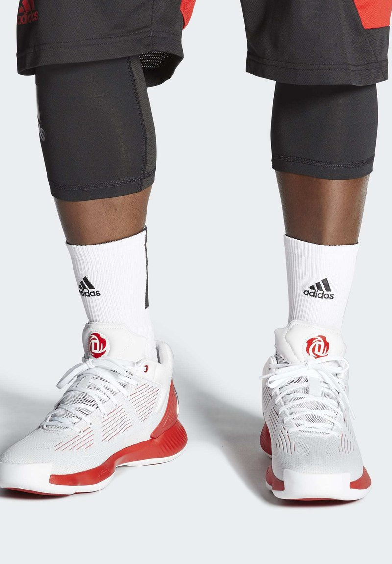 adidas Performance - D ROSE 10 SHOES - Basketball shoes - grey/red/white