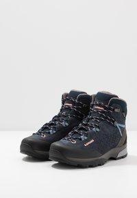 Lowa - SASSA GTX MID - Hiking shoes - navy/rosé - 2