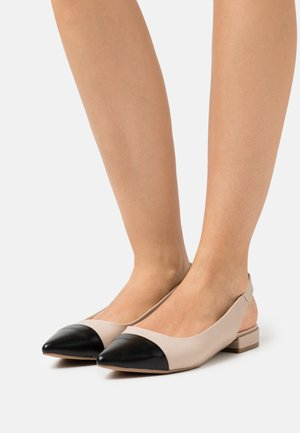 Slingback ballet pumps - nude