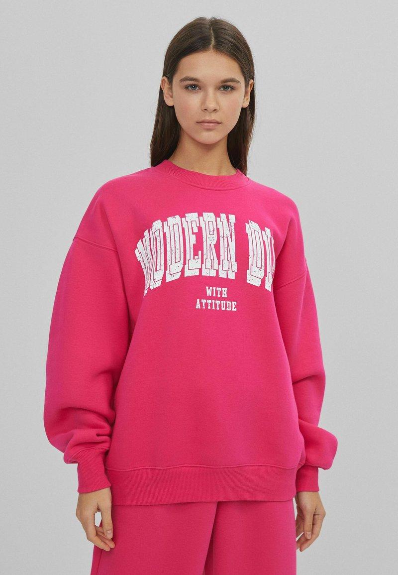 Bershka - Sweatshirt - pink