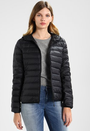 LADIES BASIC HOODED  - Down jacket - black