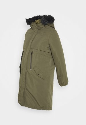 MLJESSA LONG - Winterjas - olive night/black