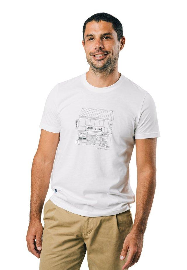 TAKE AWAY - T-shirt con stampa - white