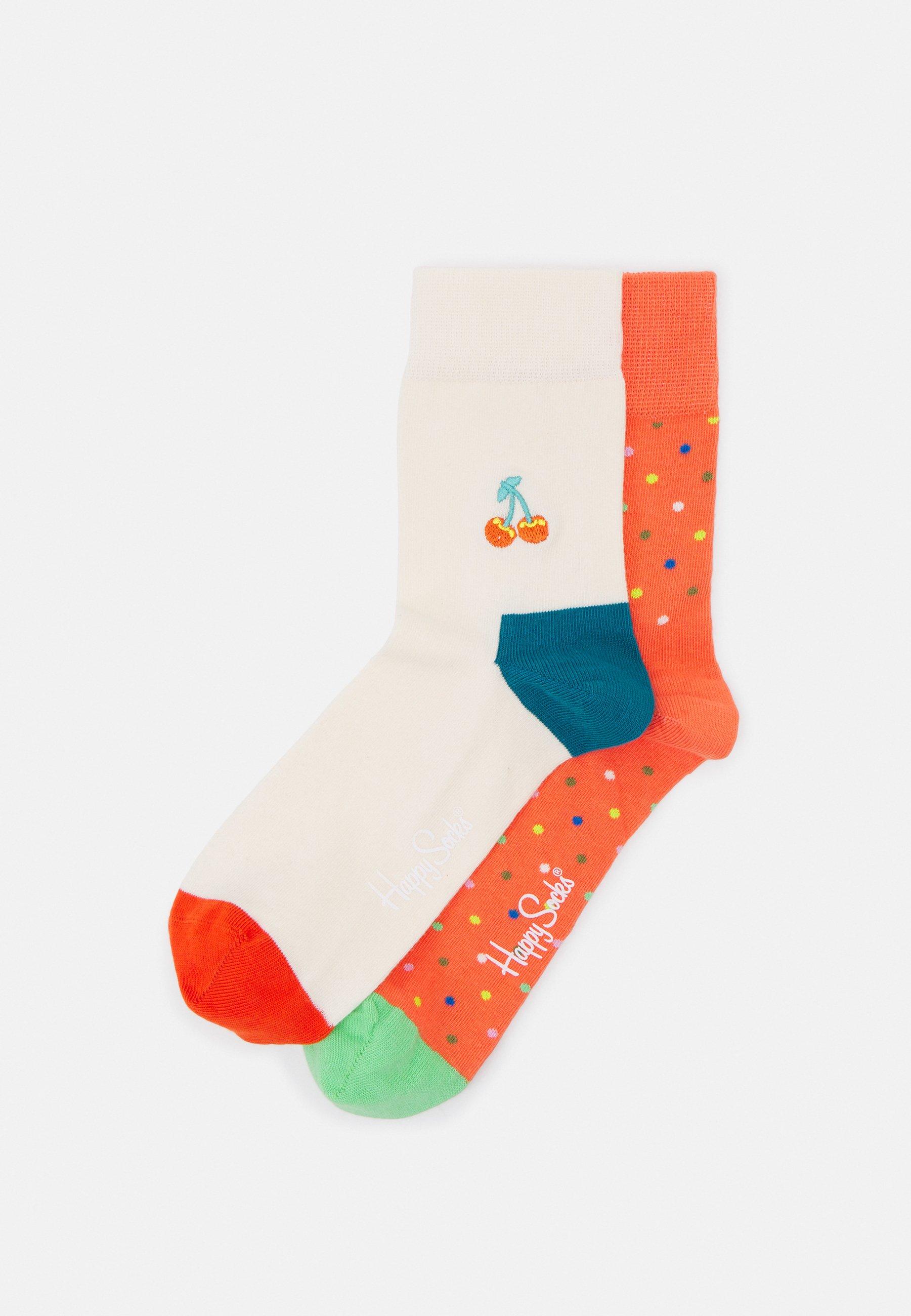 Men EMBROIDERY CHERRY HALF CREW UNISEX SET - Socks