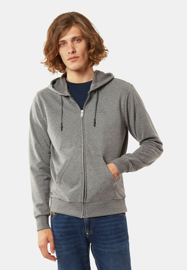 Hoodie met rits - medium heather grey