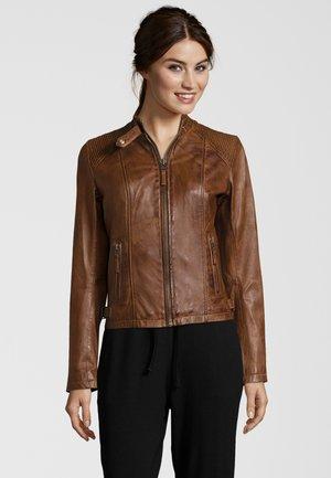 JANINA  - Leather jacket - cognac
