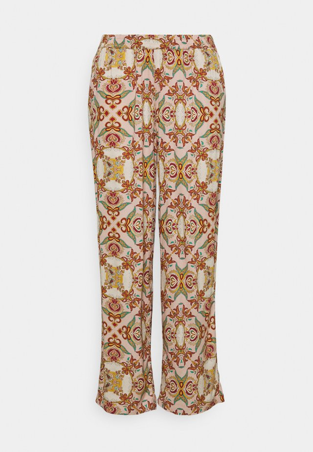 CARDES LIFE WIDE PANTS - Pantalones - oatmeal