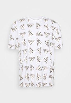 BLUV ESSENTIALS LOOSE - Print T-shirt - white