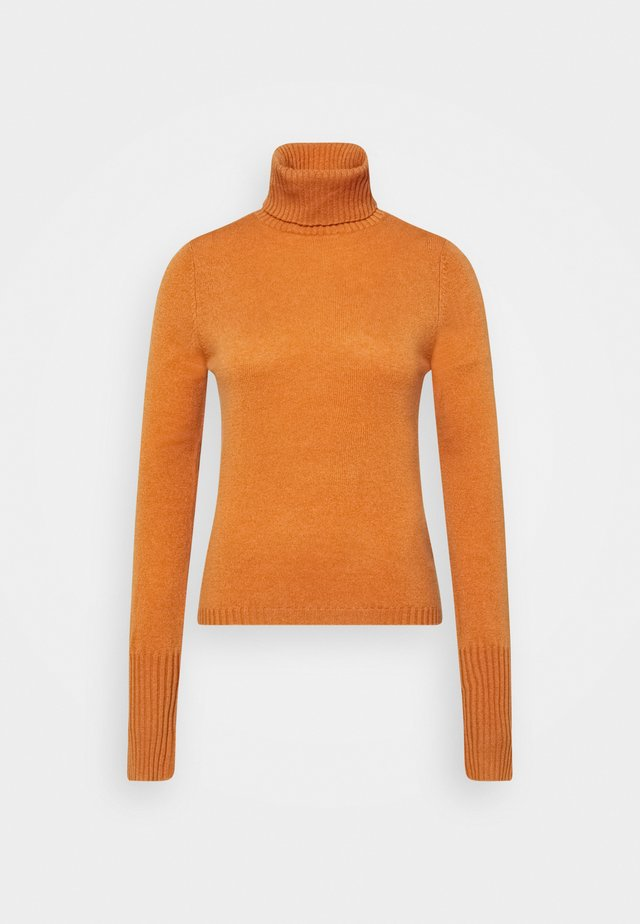 ROLLNECK - Stickad tröja - rust orange