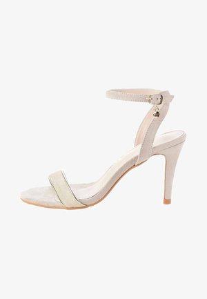 MASSAC - Sandały na obcasie - beige