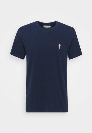 REGULAR - Basic T-shirt - navy melange