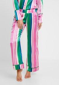 Hesper Fox - EVIE PRINT BOTTOMS - Pyjama bottoms - pink/dark blue/white - 0