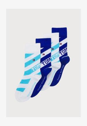 KIDS SOCK DIAGONAL STRIPE 4 PACK UNISEX - Ponožky - blue combo