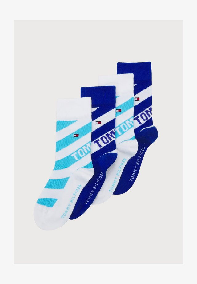 KIDS SOCK DIAGONAL STRIPE 4 PACK UNISEX - Socks - blue combo