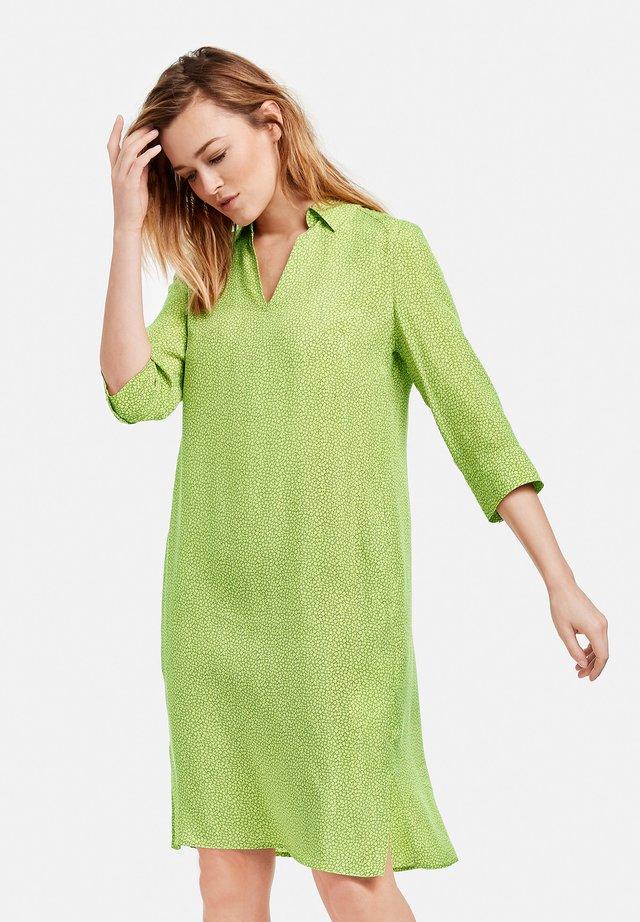 Korte jurk - gelb grün druck