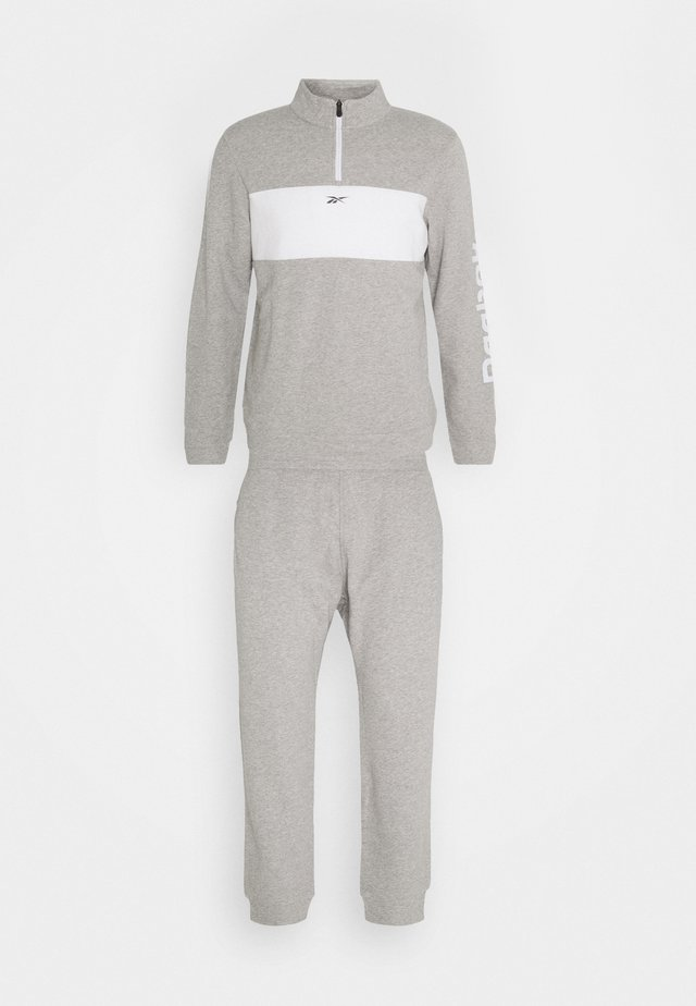 LINEAR LOGO SET - Tracksuit - medium grey heather