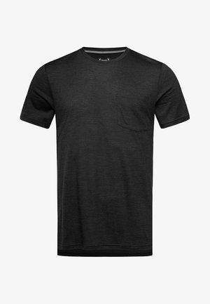SUPER.NATURAL MERINO T-SHIRT M CITY TEE - Basic T-shirt - black