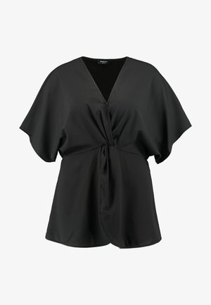 TWIST FRONT TOP - Camicetta - black