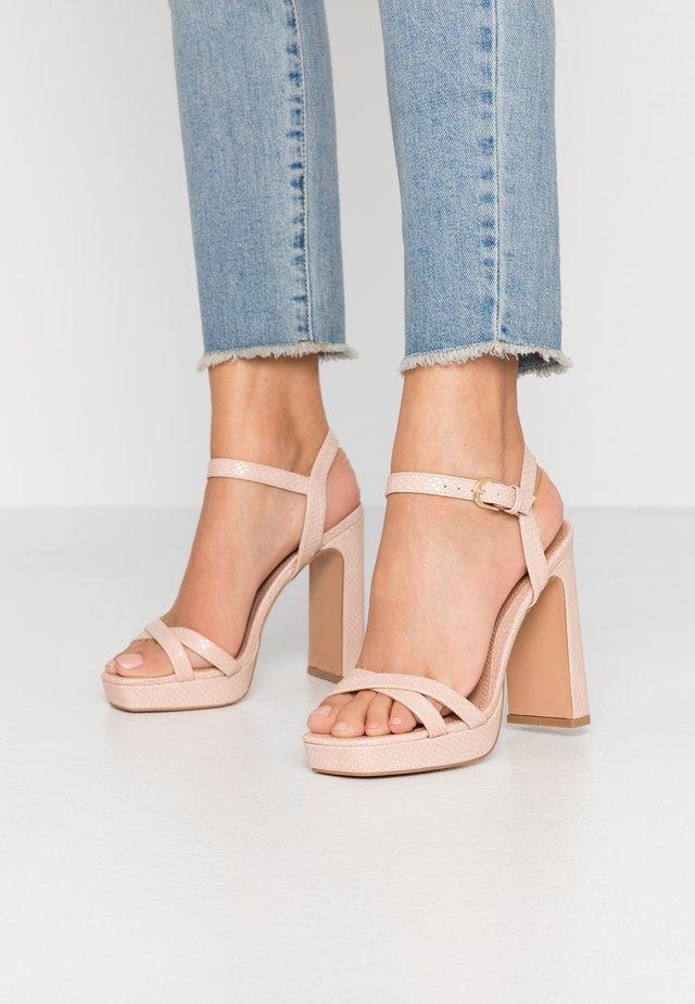 SIENNA PLATFORM - High heeled sandals - pink