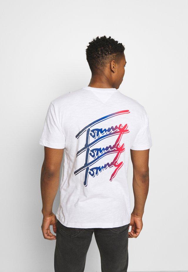REPEAT SCRIPT TEE UNISEX - T-shirt imprimé - white