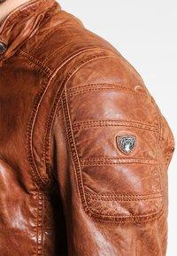 Gipsy - RAMOS - Kožená bunda - cognac - 3