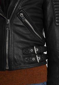 AllSaints - ESTELLA BIKER - Leather jacket - black - 7