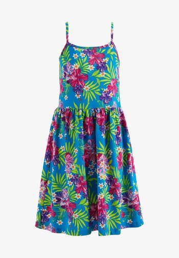 SUMMER - Jersey dress - turquoise