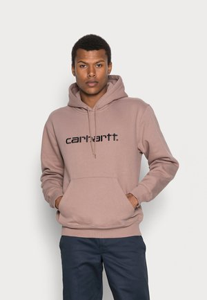 HOODED CARHARTT  - Sweat à capuche - earthy pink/black