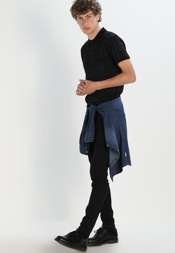Lee MALONE - Jeansy Skinny Fit - black rinse/czarny denim Odzież Męska XHZH
