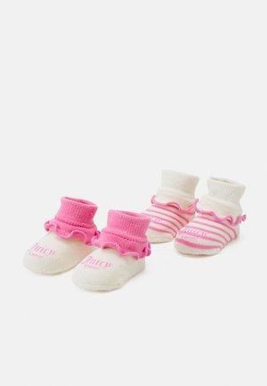 BABY STRIPE BOOTIE 2 PACK - Socks - wild orchid