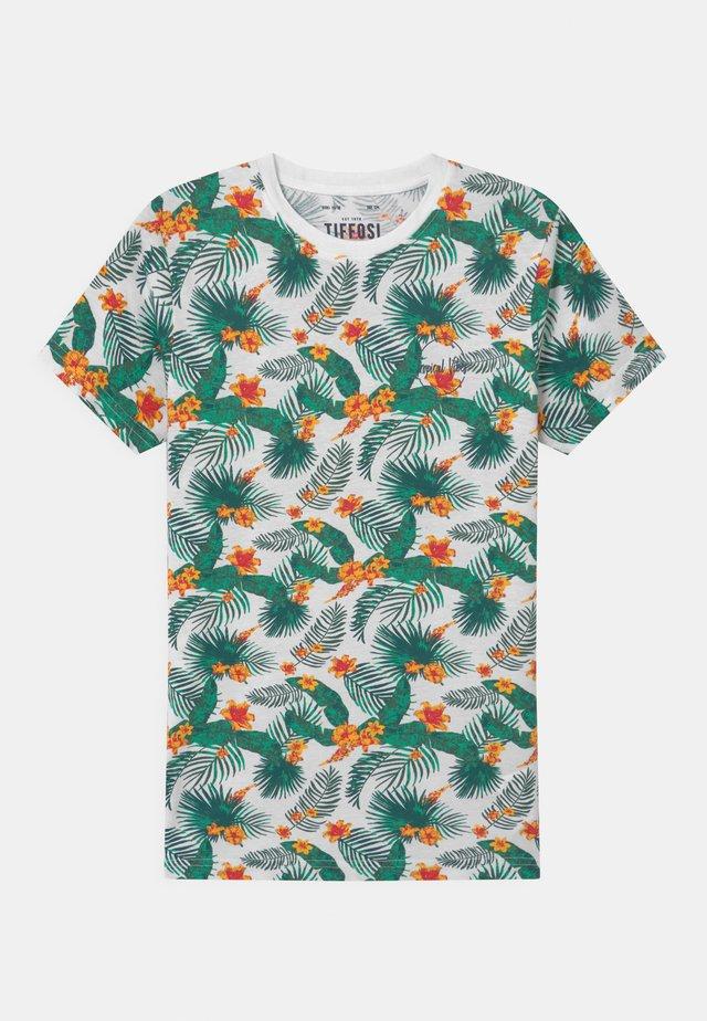 LAZAROS - T-shirt imprimé - white