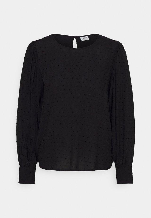 JDYMALONE PUFF TOP - Bluse - black
