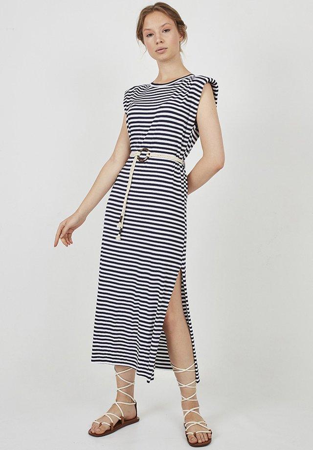 SAILOR ERIKA - Shift dress - dark blue/white