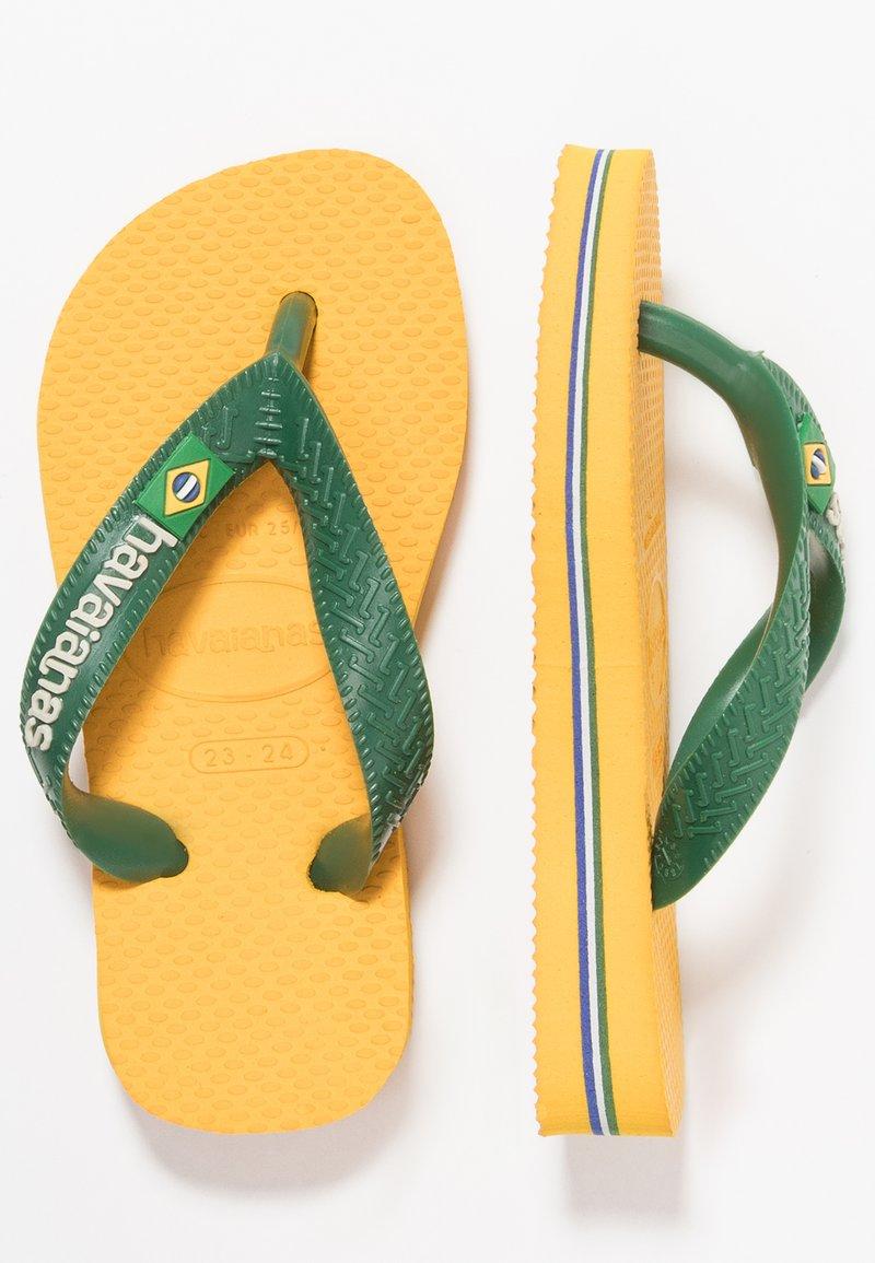 Havaianas - BRASIL LOGO - Pool shoes - Banana Yellow/Khaki