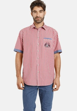 TASSILO - Shirt - rot kariert
