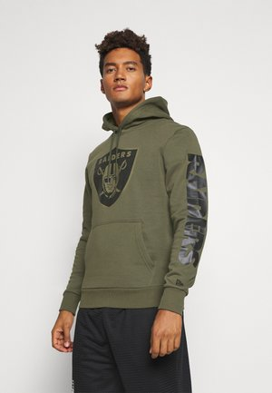 NFL DIGI OAKLAND RAIDERS HOODY - Club wear - mottled olive