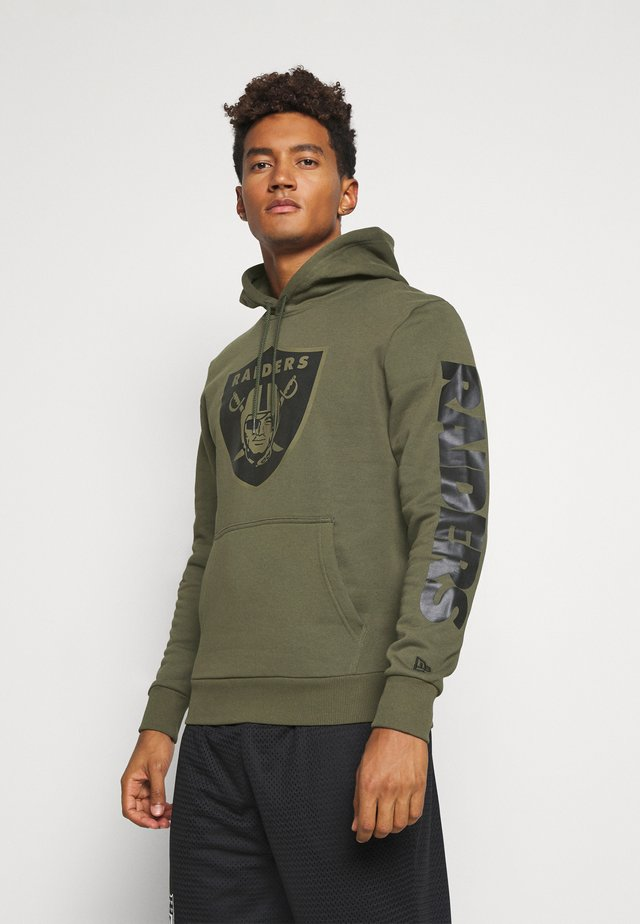 NFL DIGI OAKLAND RAIDERS HOODY - Article de supporter - mottled olive