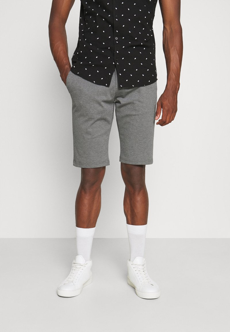 TOM TAILOR - JOSH  - Shorts - grey melange pique