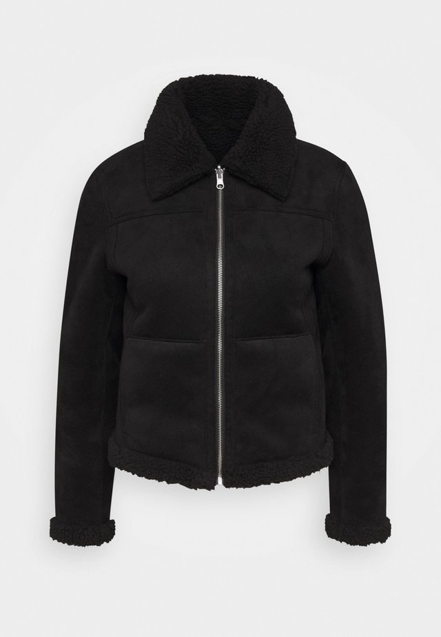 CLIMB - Veste en similicuir - black