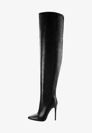 ROFELLE - Kozaki na obcasie - black