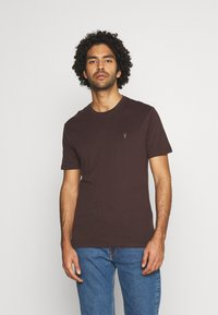 AllSaints - BRACE TONIC CREW - Basic T-shirt - oxblood red - 0