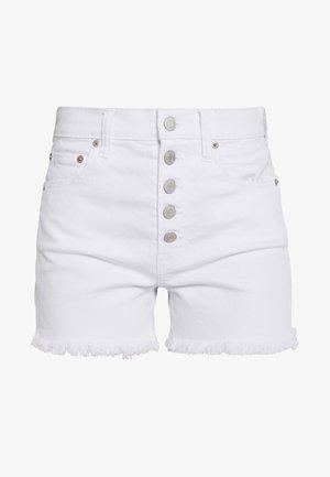 Denim shorts - optic white