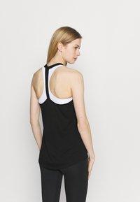 Nike Performance - DRY ELASTIKA TANK - Funktionströja - black/white - 2
