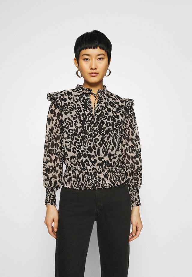 SHIRRED LEOPARD  - Blouse - multi